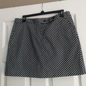 J Crew, polka dot black skirt. 8